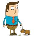 Man walking dog vector image