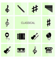 14 classical icons vector image vector image