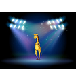 A giraffe standing in the middle of the stage vector image vector image