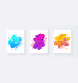 abstract cover set of liquid shapes vector image vector image