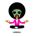 afro meditation vector image vector image