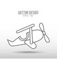 airplane drawn design vector image
