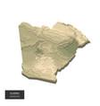 algeria map - 3d digital high-altitude vector image vector image