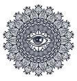 All Seeing Eye in Mandala vector image