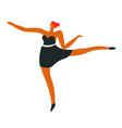 ballet dancer or ballerina in dance move vector image