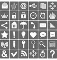 Basic Smartphone Icons Set vector image