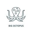 big octopus line icon big octopus outline vector image vector image