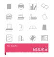 books icon set vector image vector image