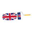 brush stroke with united kingdom national flag vector image