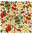 colorful easter eggs pattern on white background vector image vector image