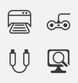 computer icons set collection of laptop joystick vector image vector image