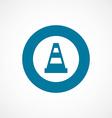 construction cone bold blue border circle icon vector image vector image
