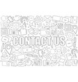 contact us background from line icon vector image vector image