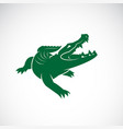 crocodile design on white background wild animals vector image