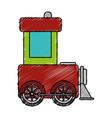 cute train toy icon vector image vector image