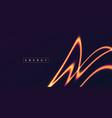 energy glowing neon orange light lines abstract vector image vector image