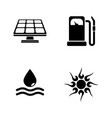 energy simple related icons vector image vector image
