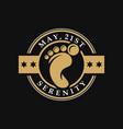 foot medicine vintage logo design vector image vector image