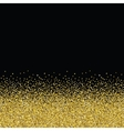 Glitter golden seamless texture vector image vector image