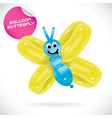 Glossy Balloon Butterfly vector image