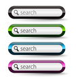 Glossy search icon vector image