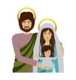 half body picture of sacred family vector image vector image
