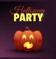 halloween party card happy halloween banner vector image vector image