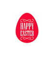happy easter - minimal festive card with monogram vector image vector image