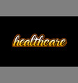 healthcare word text banner postcard logo icon vector image vector image