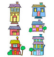 house colorful set vector image vector image