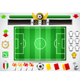 Info Graphic Set of Soccer Field and Icons vector image