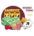 internet casino background template online poker vector image vector image