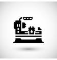 Lathe machine icon vector image
