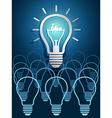 Lightbulb ideas5 vector image vector image