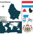 Luxembourg map vector image