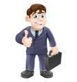man in suit thumbs up drawing vector image vector image