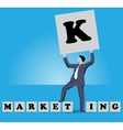 Market king business concept vector image vector image