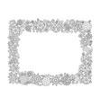 new year hand drawn horizontal frame entangle vector image vector image