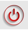 On Off switch sign vector image vector image