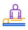 orthopedic masseur with patient silhouette vector image vector image