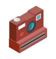 Polaroid camera isometric 3d icon vector image vector image