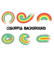 Rainbow colors abstract circle frame vector image vector image