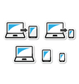 Responsive design - laptop tablet smarthone vect vector image