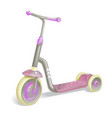 roller scooter for children balance bike eco city vector image