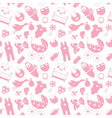 Seamless pattern with baby elements Newborn vector image