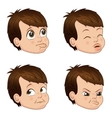 set of cute little bully boy vector image