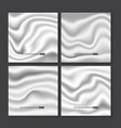 set of white silk texture vector image