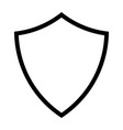 shield line icon vector image