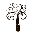 Silhouette of tree icon vector image