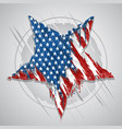 star america usa flag abstract grunge eps element vector image